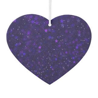 Purple Bokeh Stars Car Air Freshener