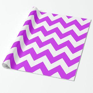Purple Bold Chevron Wrapping Paper