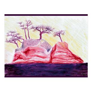 Purple Bonsai Island Postcard