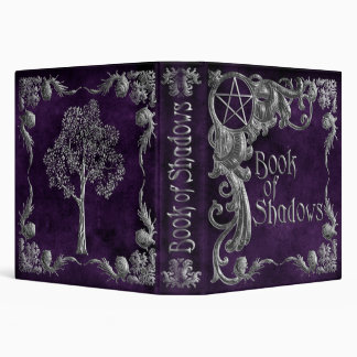 "Purple ""Book Of Shadows"" w/ Silver Highlights #1 Vinyl Binders"