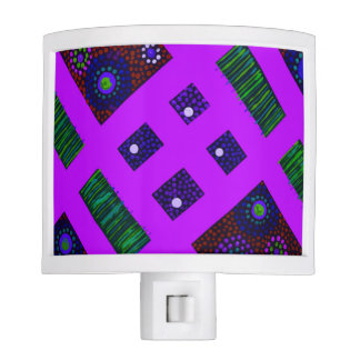 Purple Boomble Bee Night Light