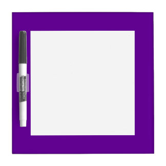 Purple Border Dry Erase Board