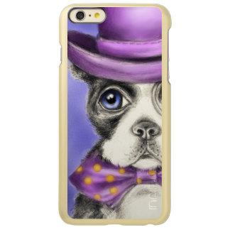 Purple Boston Terrier Detective
