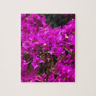 Purple Bougainvillea flowers Jigsaw Puzzle