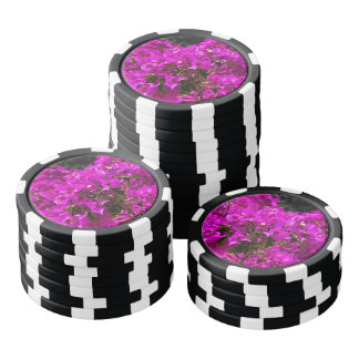 Purple Bougainvillea flowers Poker Chip Set