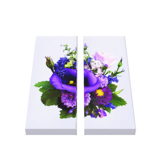 Purple Bouquet With Lilies And Delphinium Canvas Print