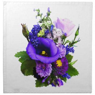 Purple Bouquet With Lilies And Delphinium Napkin