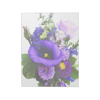 Purple Bouquet With Lilies And Delphinium Notepad