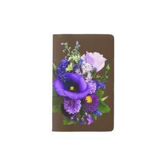 Purple Bouquet With Lilies And Delphinium Pocket Moleskine Notebook