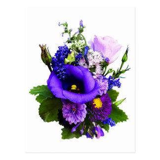 Purple Bouquet With Lilies And Delphinium Postcard