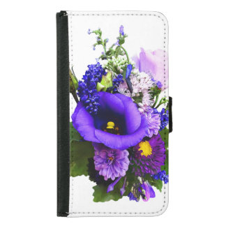 Purple Bouquet With Lilies And Delphinium Samsung Galaxy S5 Wallet Case