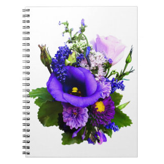 Purple Bouquet With Lilies And Delphinium Spiral Notebook