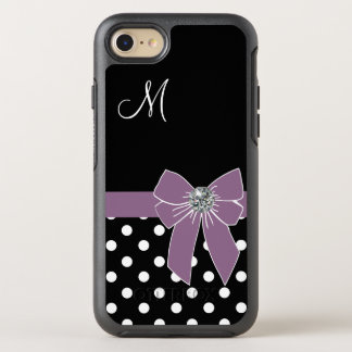 Purple Bow Polka Dots OtterBox Symmetry iPhone 7 Case