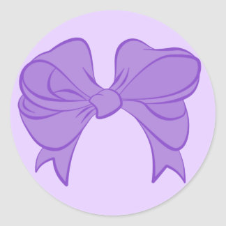 Purple Bow Stickers