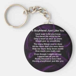 Purple -  Boyfriend Poem Keychain