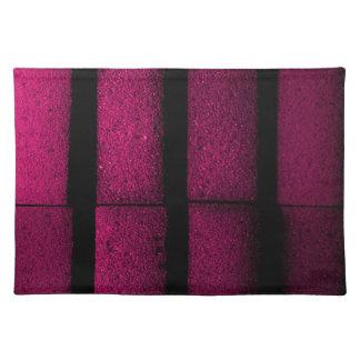 Purple Bricks Place Mats