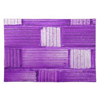 Purple Bricks Placemats