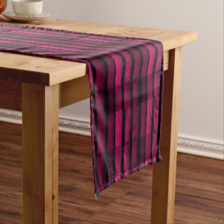 Purple Bricks Short Table Runner