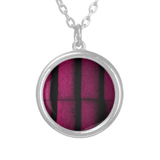 Purple Bricks Silver Plated Necklace