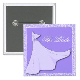 Purple Bridal Gown - Bridal Shower Button