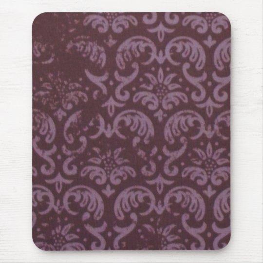 Purple Brocade Mouse Pad