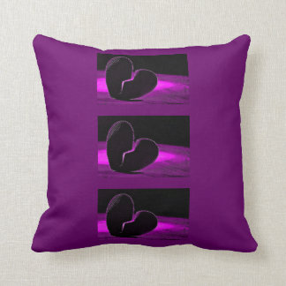 Purple Broken Heart Throw Pillow