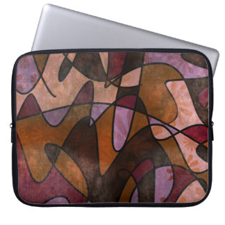 Purple, Brown, Burgundy Abstract Art, 5a Laptop Sleeve