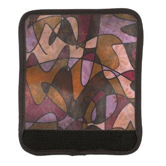 Purple, Brown, Burgundy Abstract Art Luggage Handle Wrap