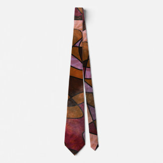 Purple, Brown, Burgundy Abstract Art Neck Tie