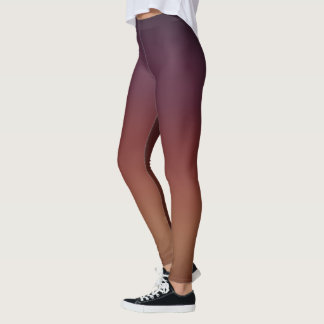 Purple Brown Gradient Fade Leggings