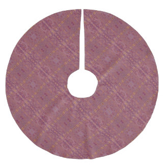 purple brushed polyester tree skirt