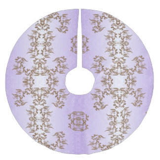 purple brushed polyester tree skirt
