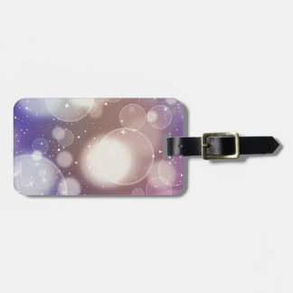 Purple Bubble Abstract Bag Tag
