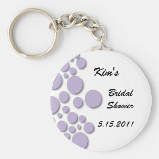 Purple Bubble Bridal Shower Key Chain