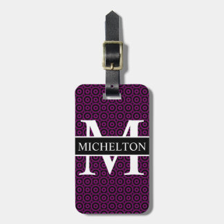 Purple Bubble Personalized Luggage Tag