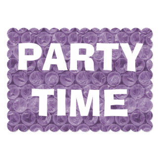 Purple bubble wrap birthday party invitation