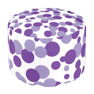 Purple Bubbles Confetti Pouf Seat