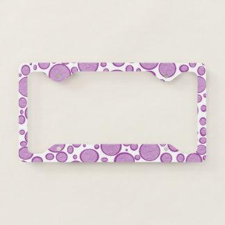 Purple Bubbles Lightened License Plate Frame