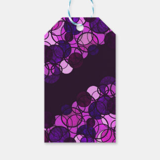 Purple bubbles pack of gift tags
