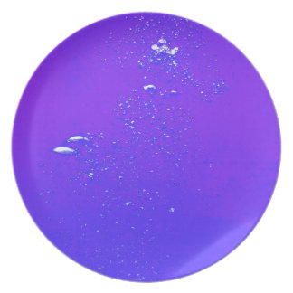 Purple bubbles plate