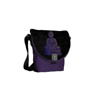 Purple Buddha Pixel Art Commuter Bag