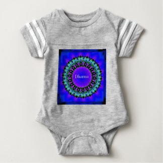 Purple Buddha Truths Darma Mandala Pattern Baby Bodysuit