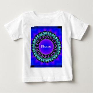 Purple Buddha Truths Darma Mandala Pattern Baby T-Shirt