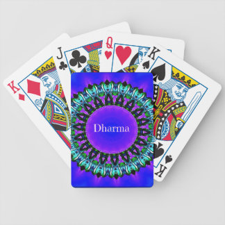 Purple Buddha Truths Darma Mandala Pattern Bicycle Playing Cards
