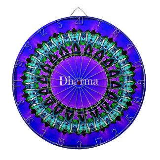 Purple Buddha Truths Darma Mandala Pattern Dartboards