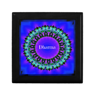 Purple Buddha Truths Darma Mandala Pattern Gift Box