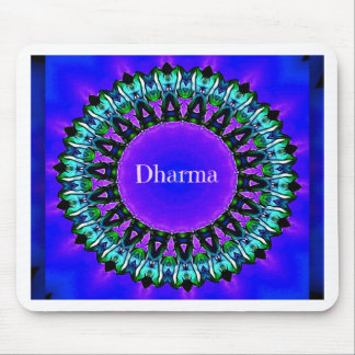 Purple Buddha Truths Darma Mandala Pattern Mouse Pad