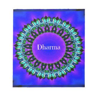 Purple Buddha Truths Darma Mandala Pattern Notepad