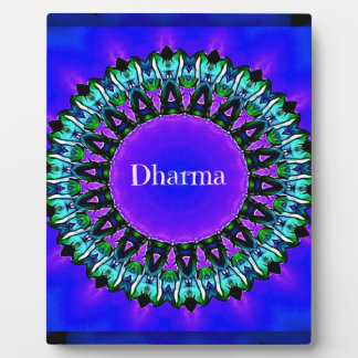 Purple Buddha Truths Darma Mandala Pattern Plaque