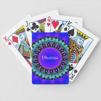 Purple Buddha Truths Darma Mandala Pattern Poker Deck